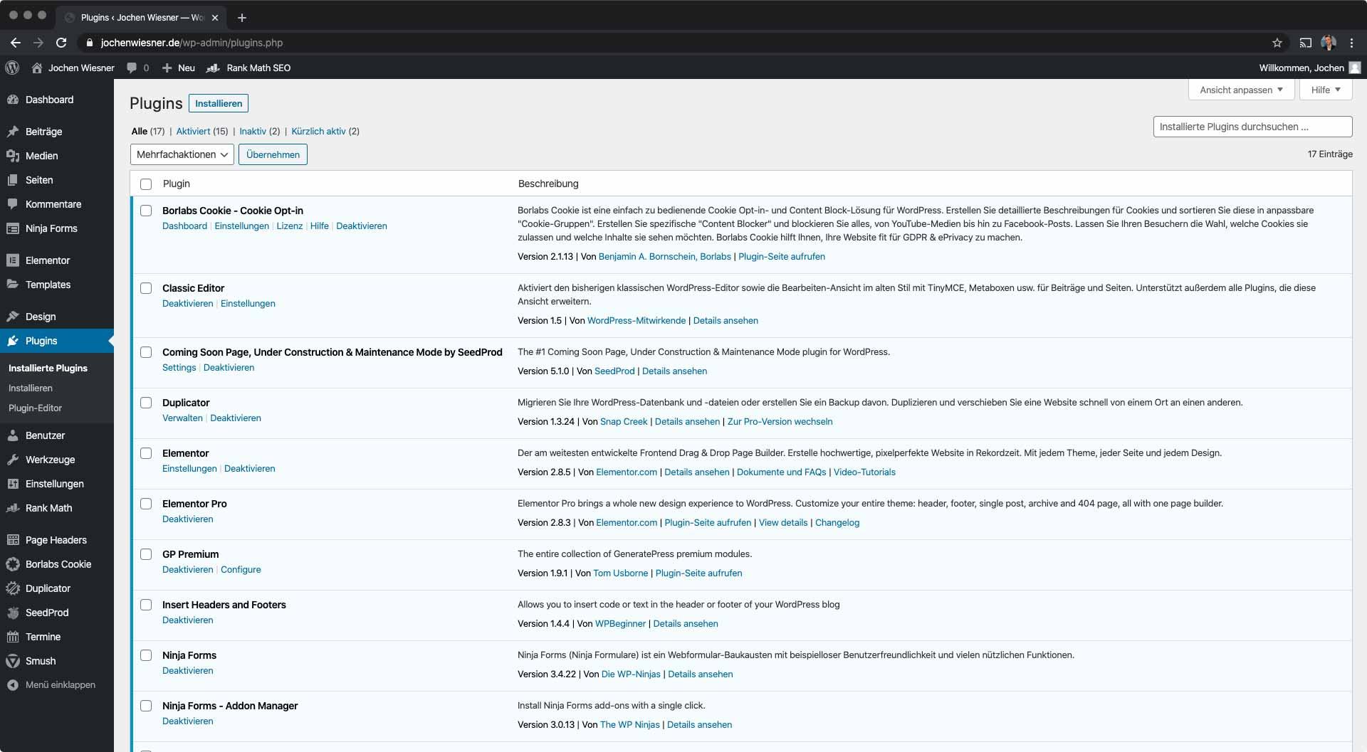 WordPress Tutorial Plugins